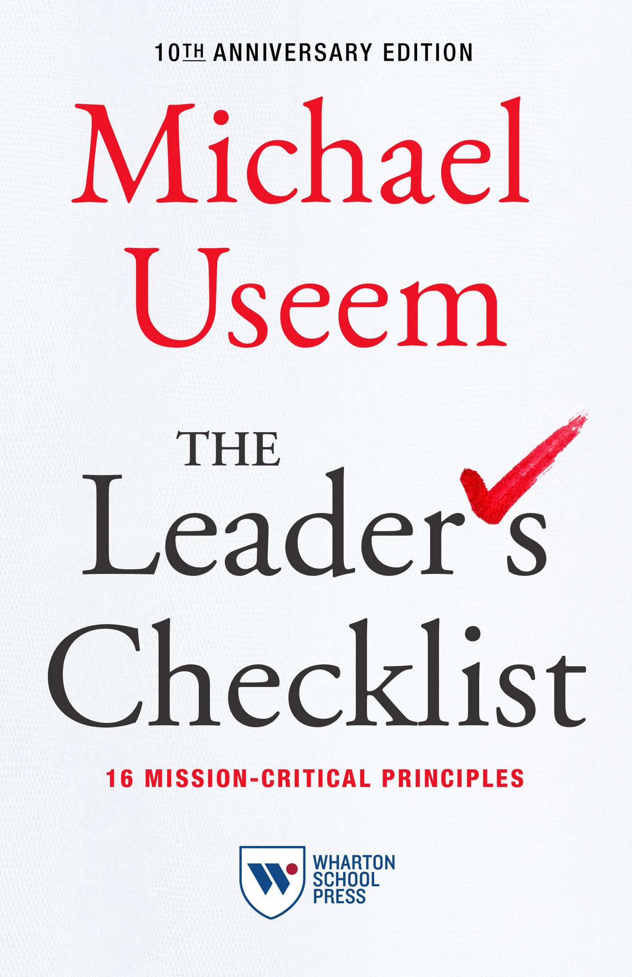 The Leader's Checklist, 10th Anniversary Edition Cover Image